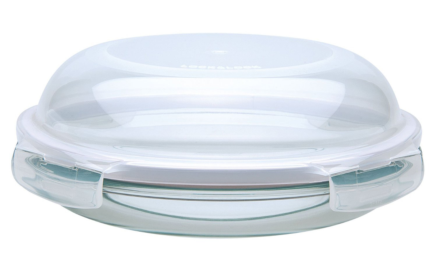 Glass Dome Cooker ~ Lock cm round glass dish with dome lid storage