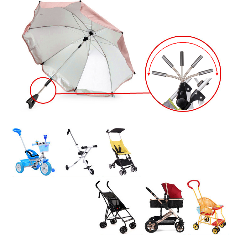 Baby Kids Sun Umbrella Parasol Buggy Pushchair Pram Stroller Shade Canopy Covers