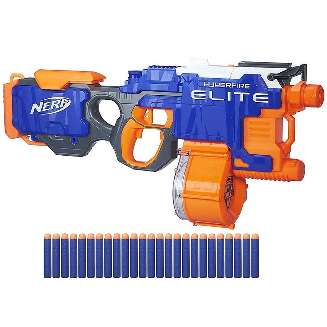 Nerf n strike elite hyperfire blaster ebay for Nerf motorized rapid fire blasting