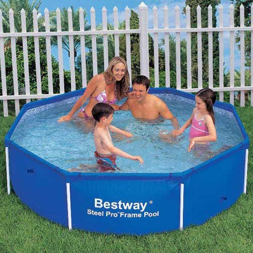 bestway 8ft octagon frame pool ebay. Black Bedroom Furniture Sets. Home Design Ideas
