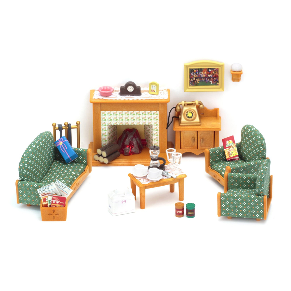 sylvanian families deluxe living room set ebay. Black Bedroom Furniture Sets. Home Design Ideas