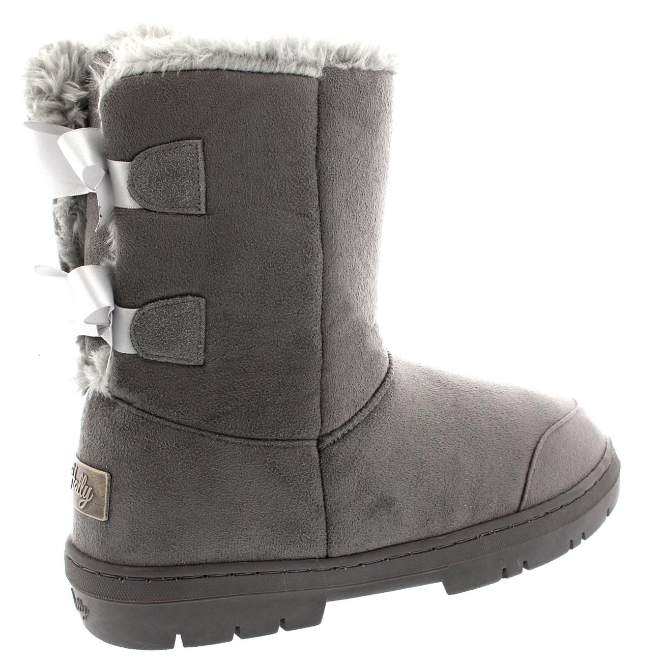 Womens Twin Bow Tall Classic Fur Waterproof Snow Boot Winter Rain ...