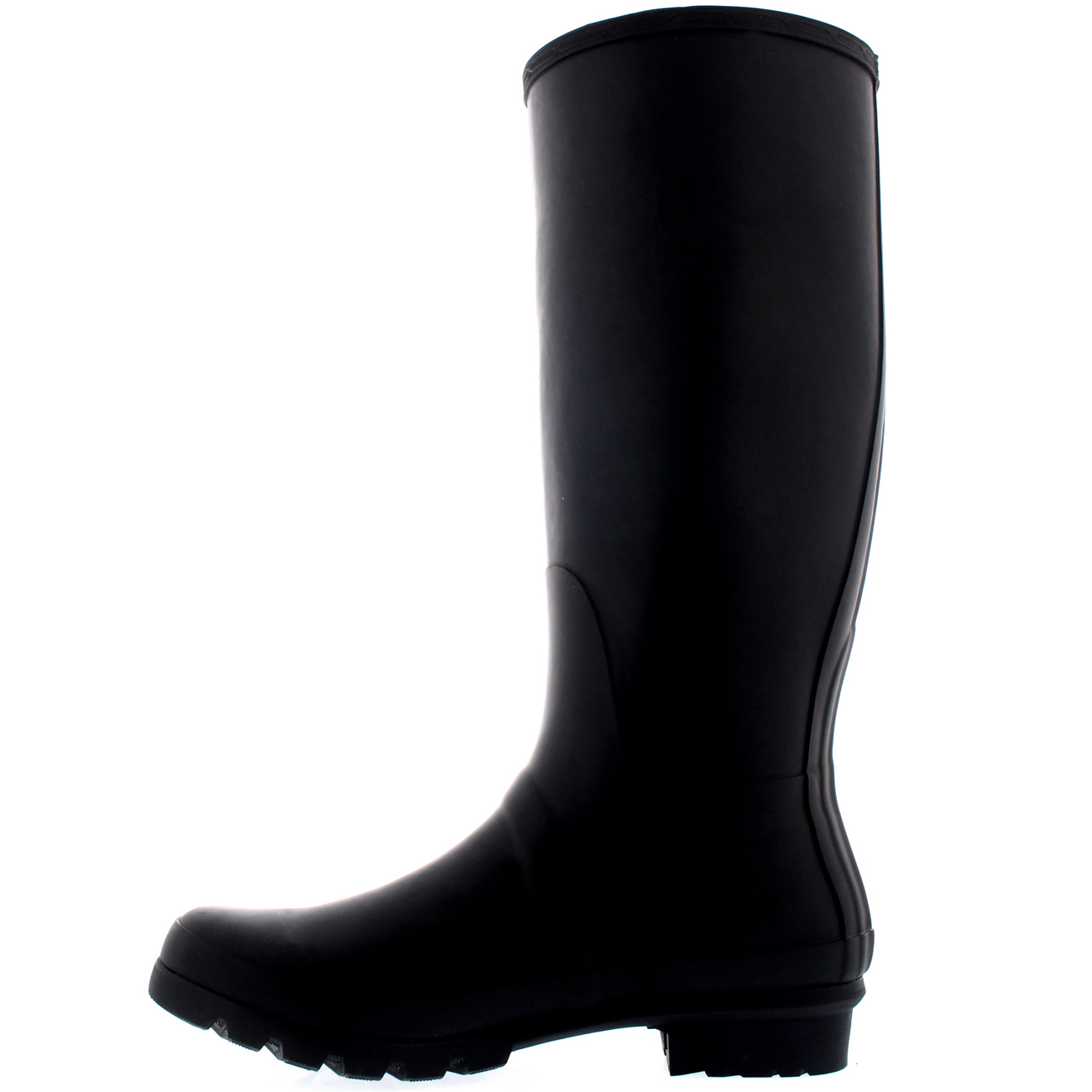 Mens Tall Adjustable Side Waterproof Rubber Wellie Wellington Rain ...