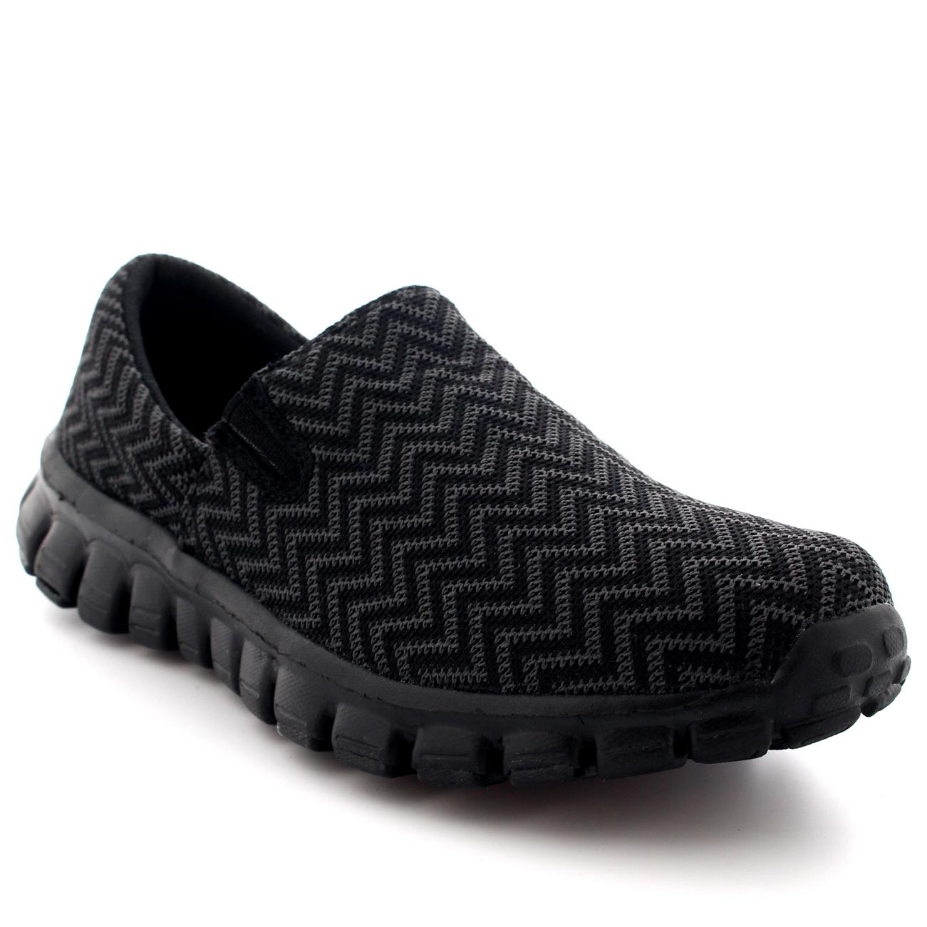 Womens Jogging Walking Gym Shoes Sports Work Running Slip On Sneakers US 5-11