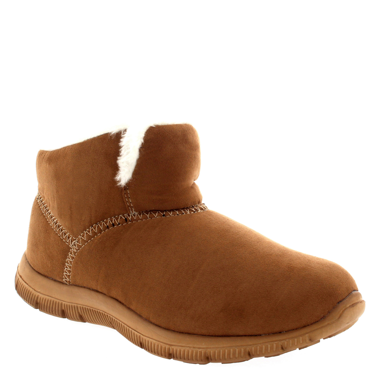 Womens Warm Fur Shoes Winter Slip On Casual Ankle Boot ...