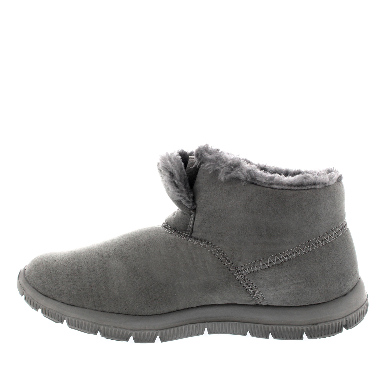 womens warm fur shoes winter slip on casual ankle boot