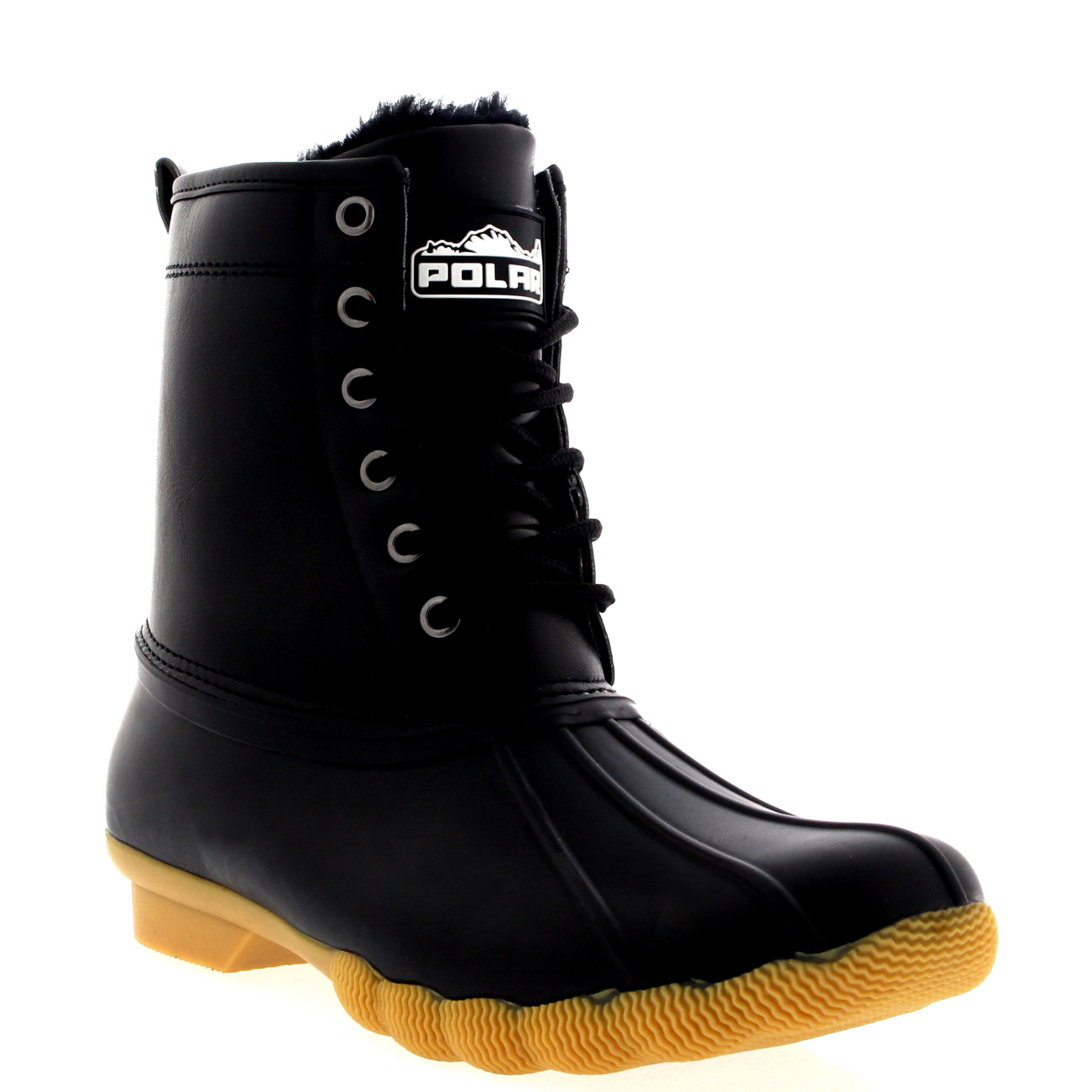 Womens Original Cold Weather Winter Fur Lined Rubber Sole Snow ...