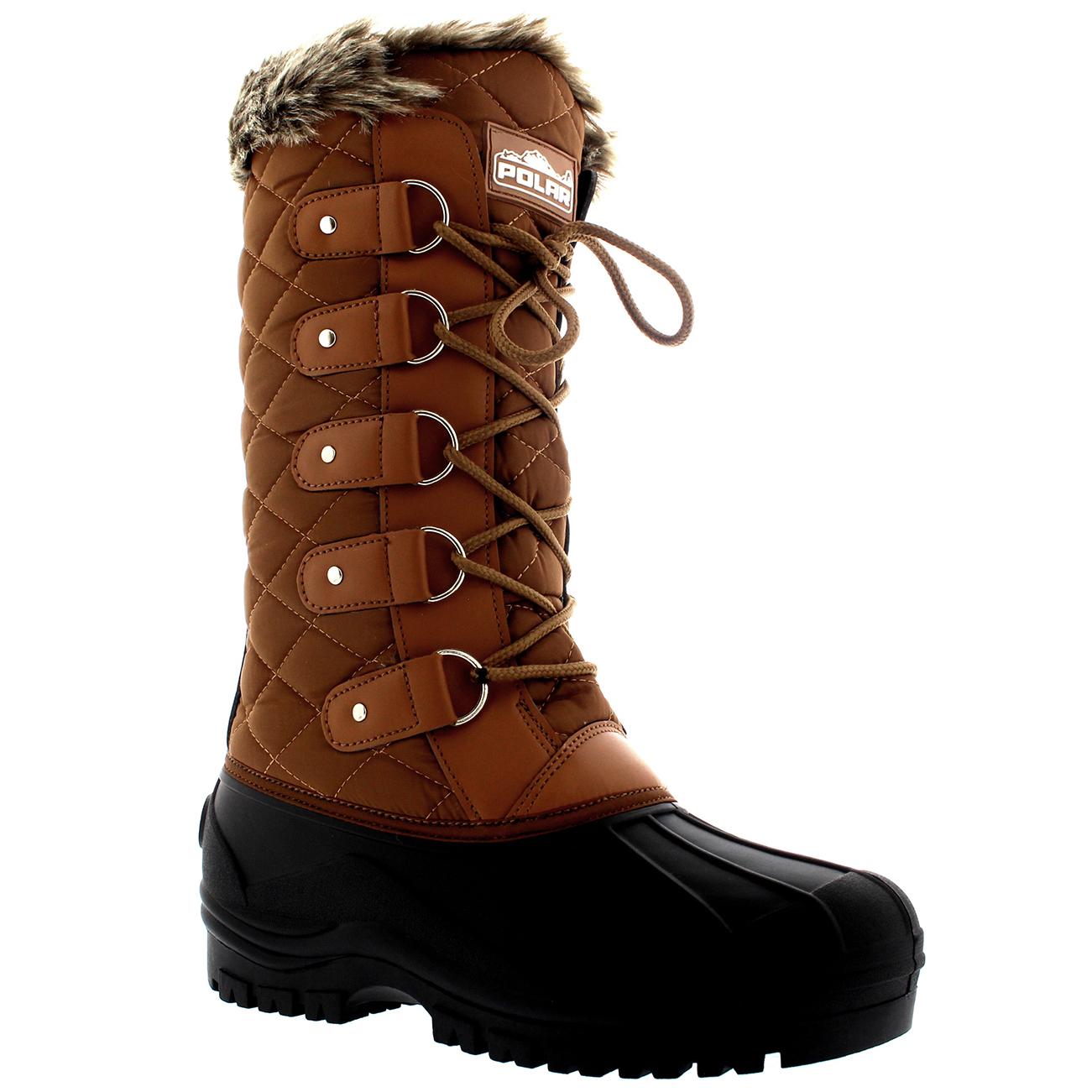 Womens Waterproof Tactical Mountain Walking Snow Fur Lined ...