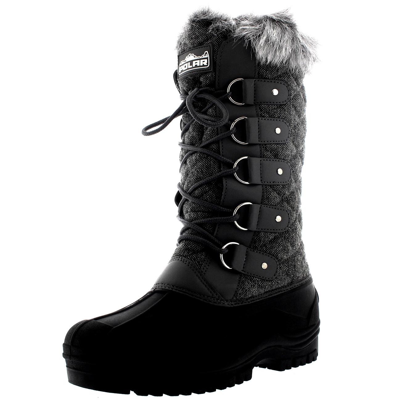 Unique  Women39s Silver KneeHigh Seattle 40 Degree Waterproof Winter Boots