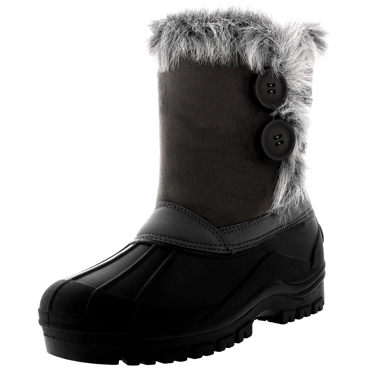 womens muck fur lined duck button waterproof winter mid