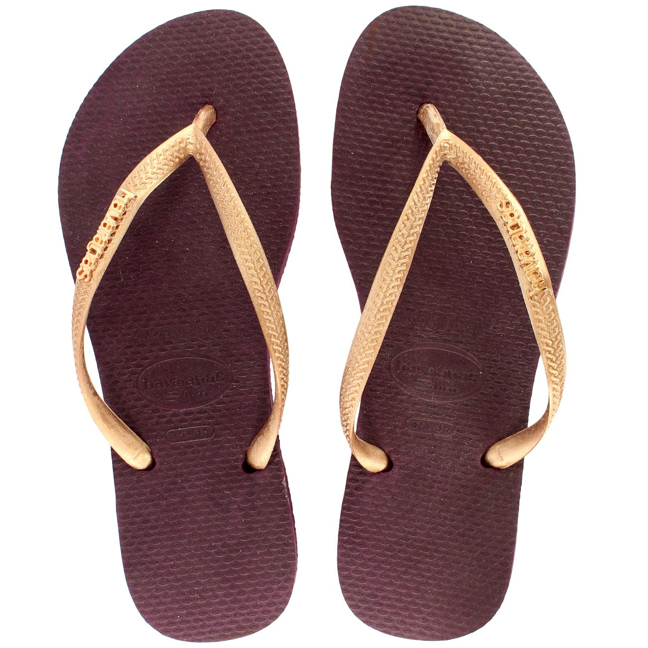 womens havaianas flip flops original box brazil slim logo ladies sandals 4 9 ebay. Black Bedroom Furniture Sets. Home Design Ideas
