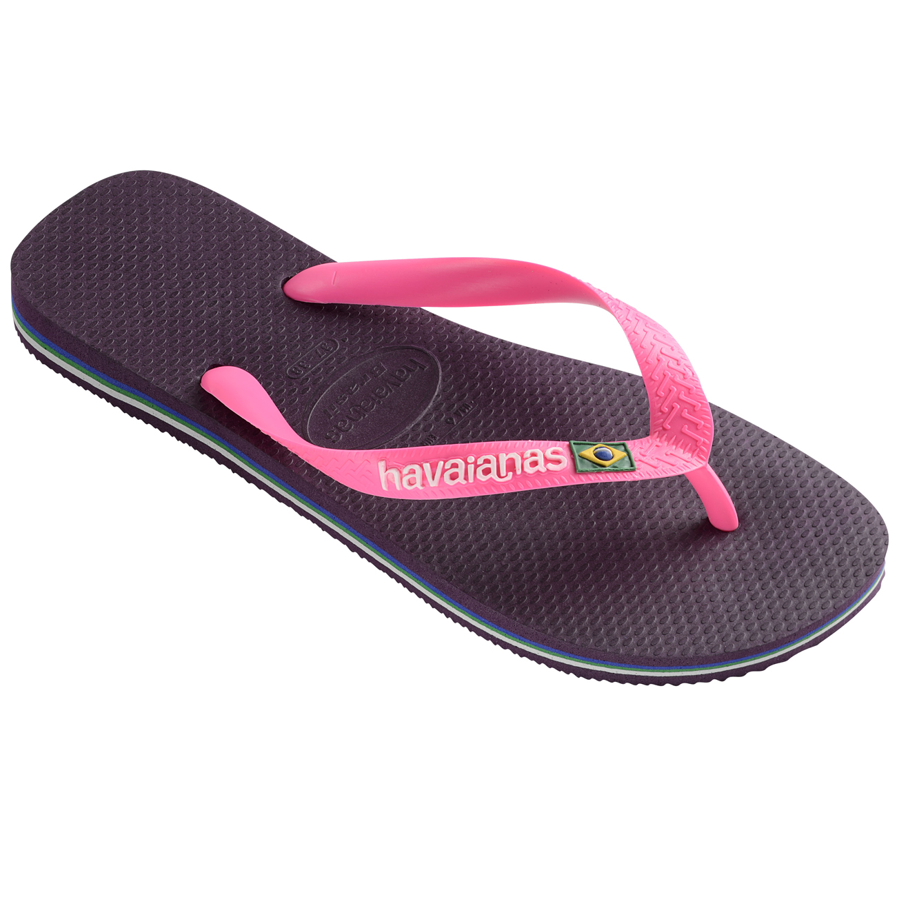 womens havaianas brasil logo rubber thongs sandals slip on