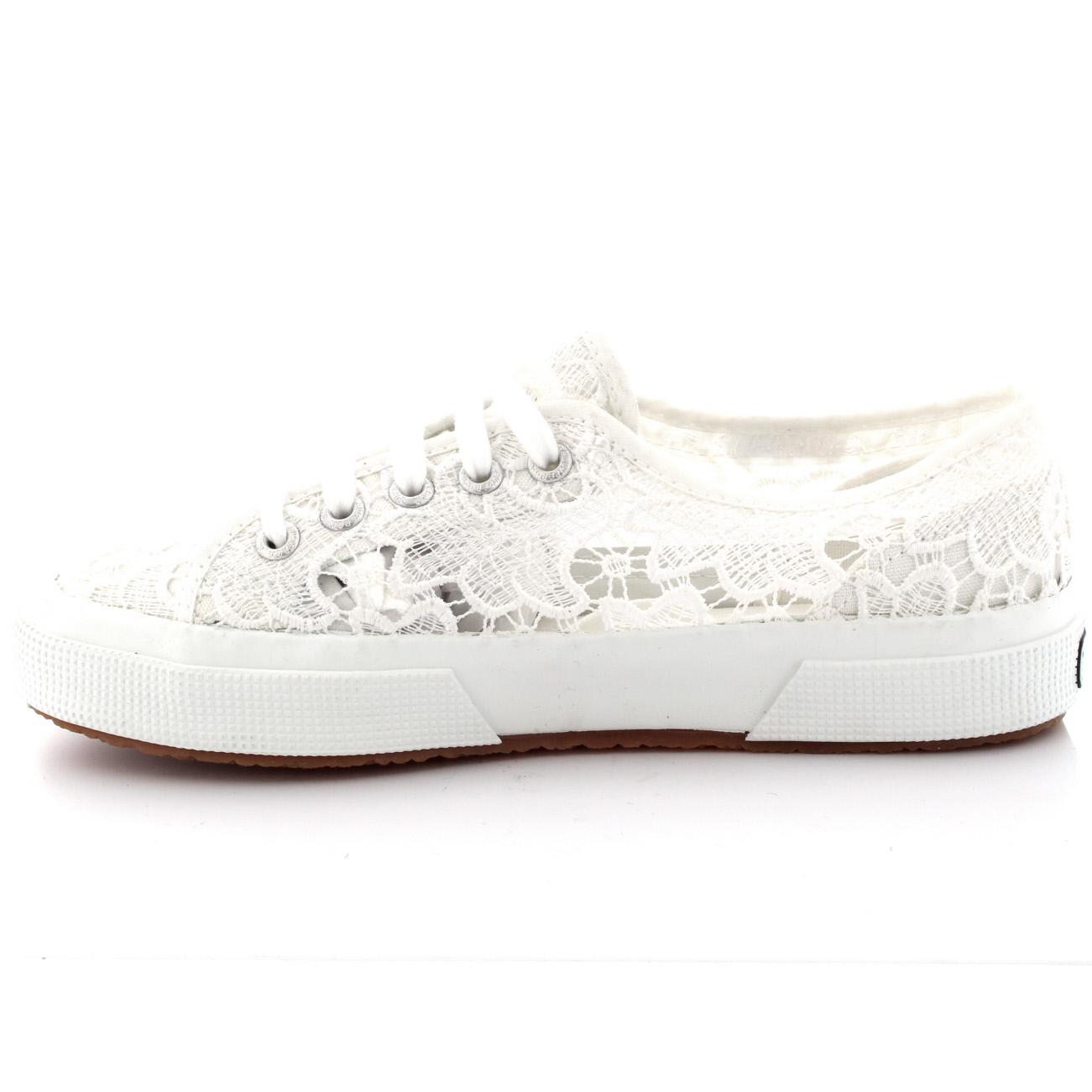 White Leather Superga Womens Fashion