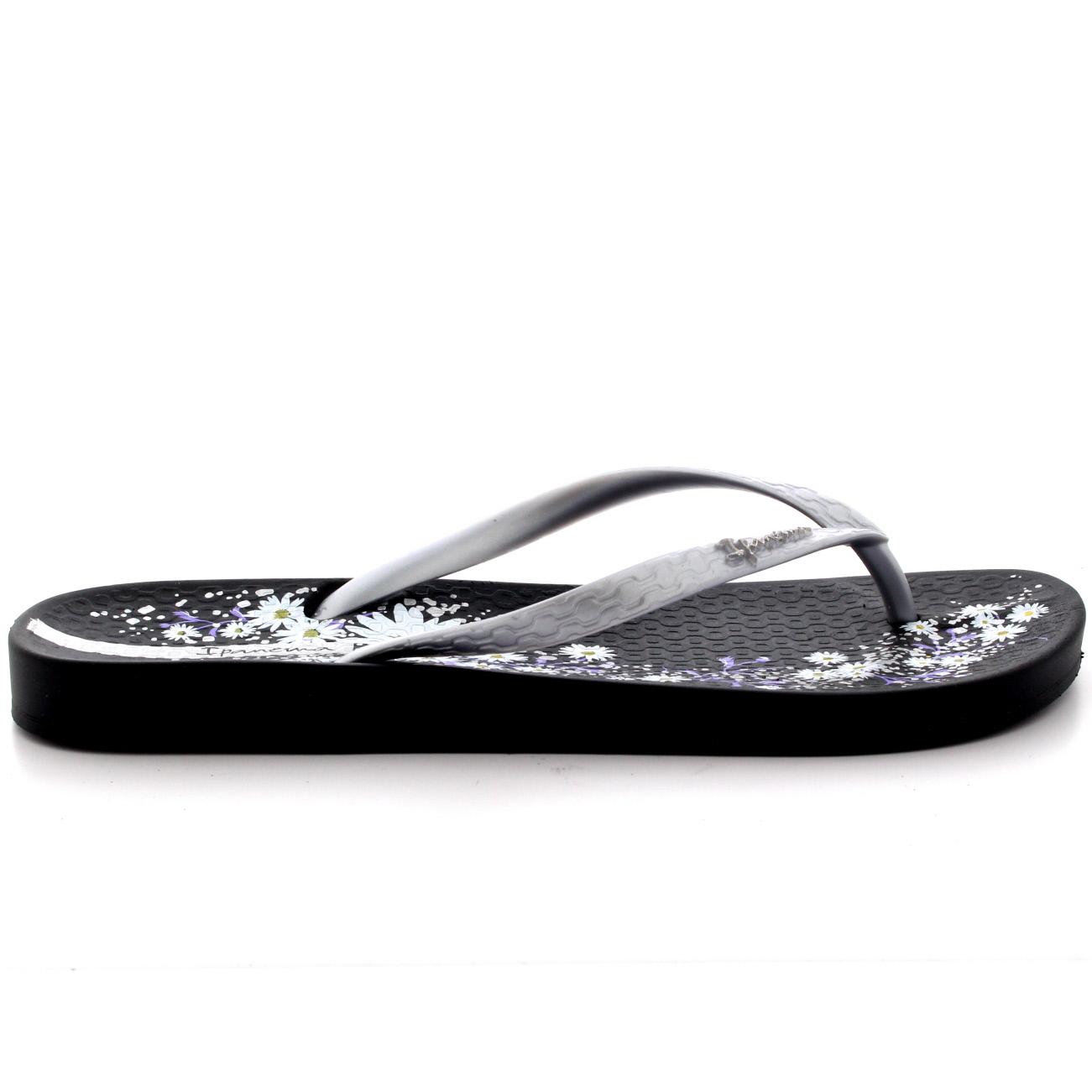 Black sandals holiday - Womens Ipanema Petal Iv Beach Holiday Floral Toe