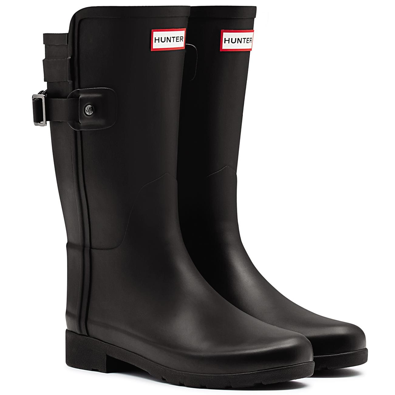 Womens Hunter Original Refined Back Strap Waterproof Wellington Rain Boot