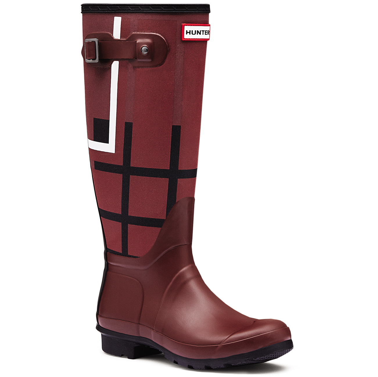 Womens Hunter Original Tartan Tall Winter Rain Boots Snow ...