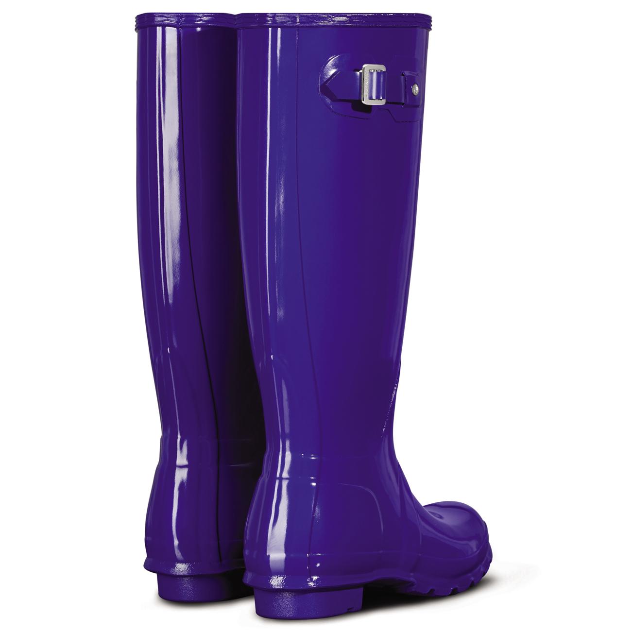 Womens Hunter Original Tall Gloss Waterproof Wellington ...