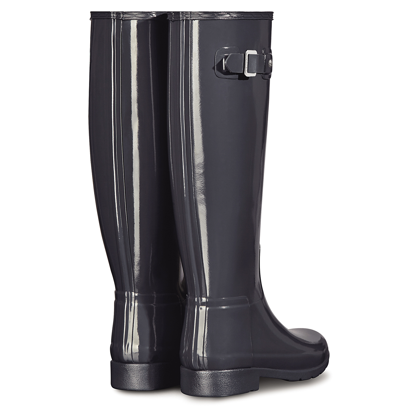 Womens Hunter Original Refined Gloss Wellingtons Snow Winter Rain ...