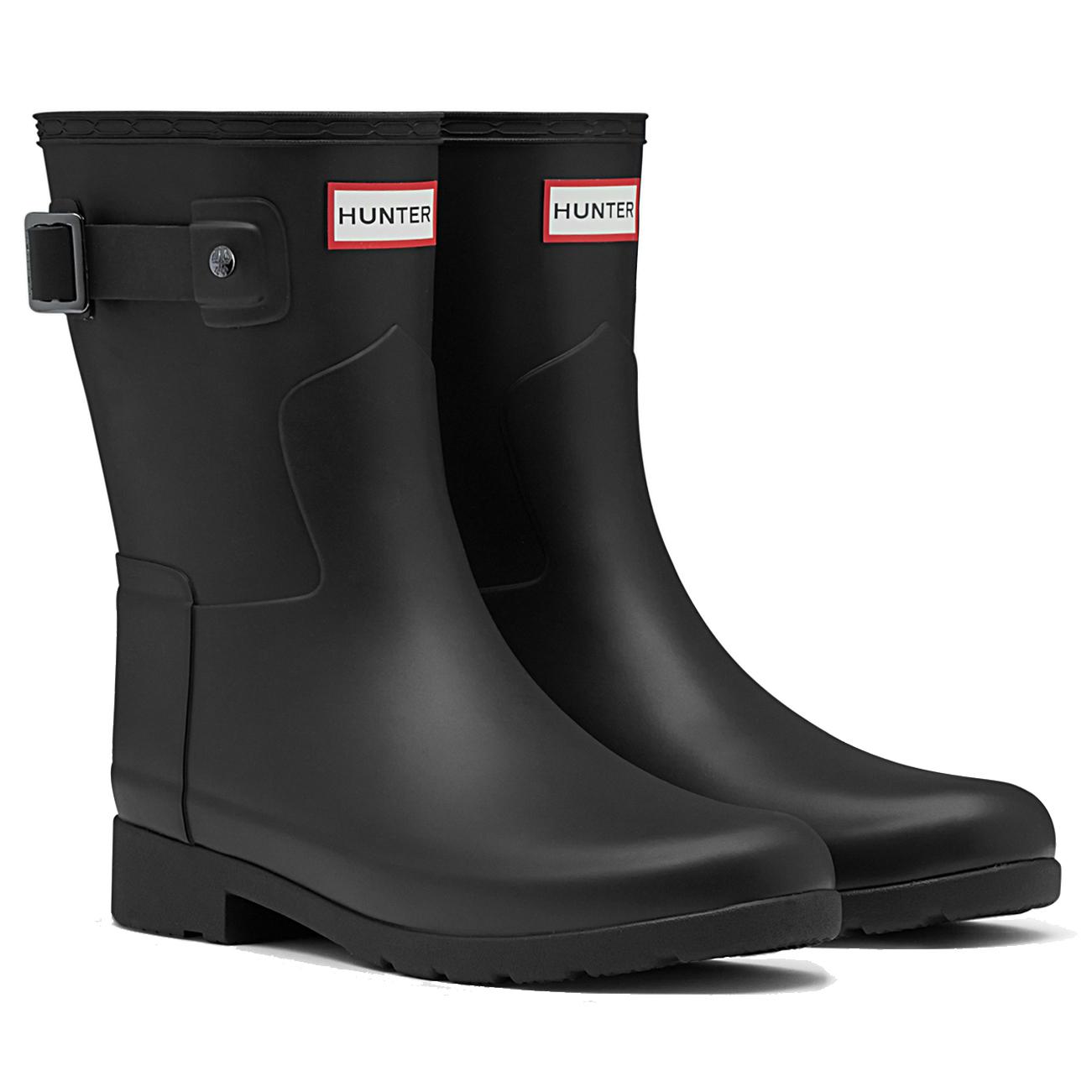 Womens Hunter Original Refined Short Wellingtons Snow Rain Winter Boots US 5-11