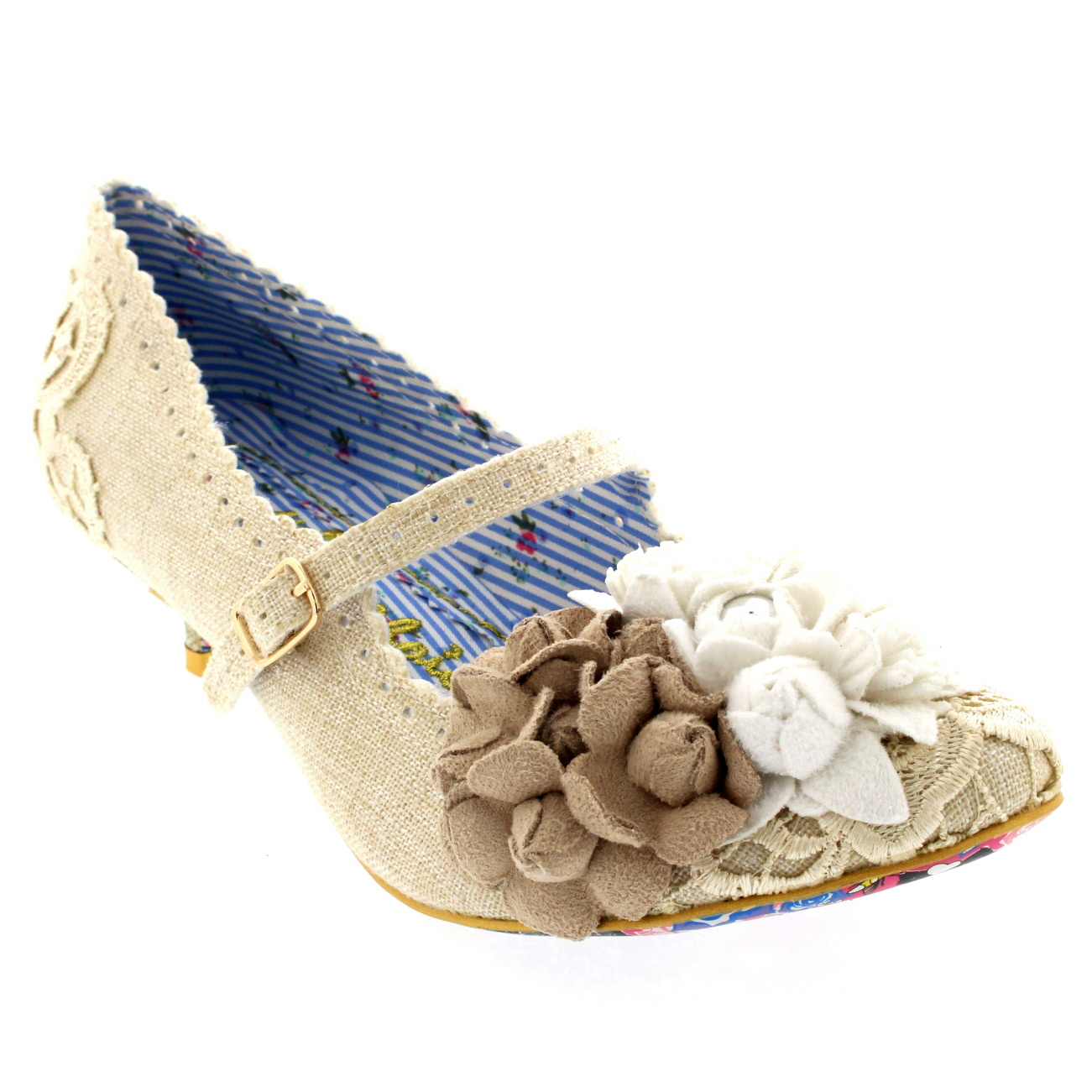 Womens Irregular Choice Daisy Dayz Evening Buckle Shoes Kitten ...