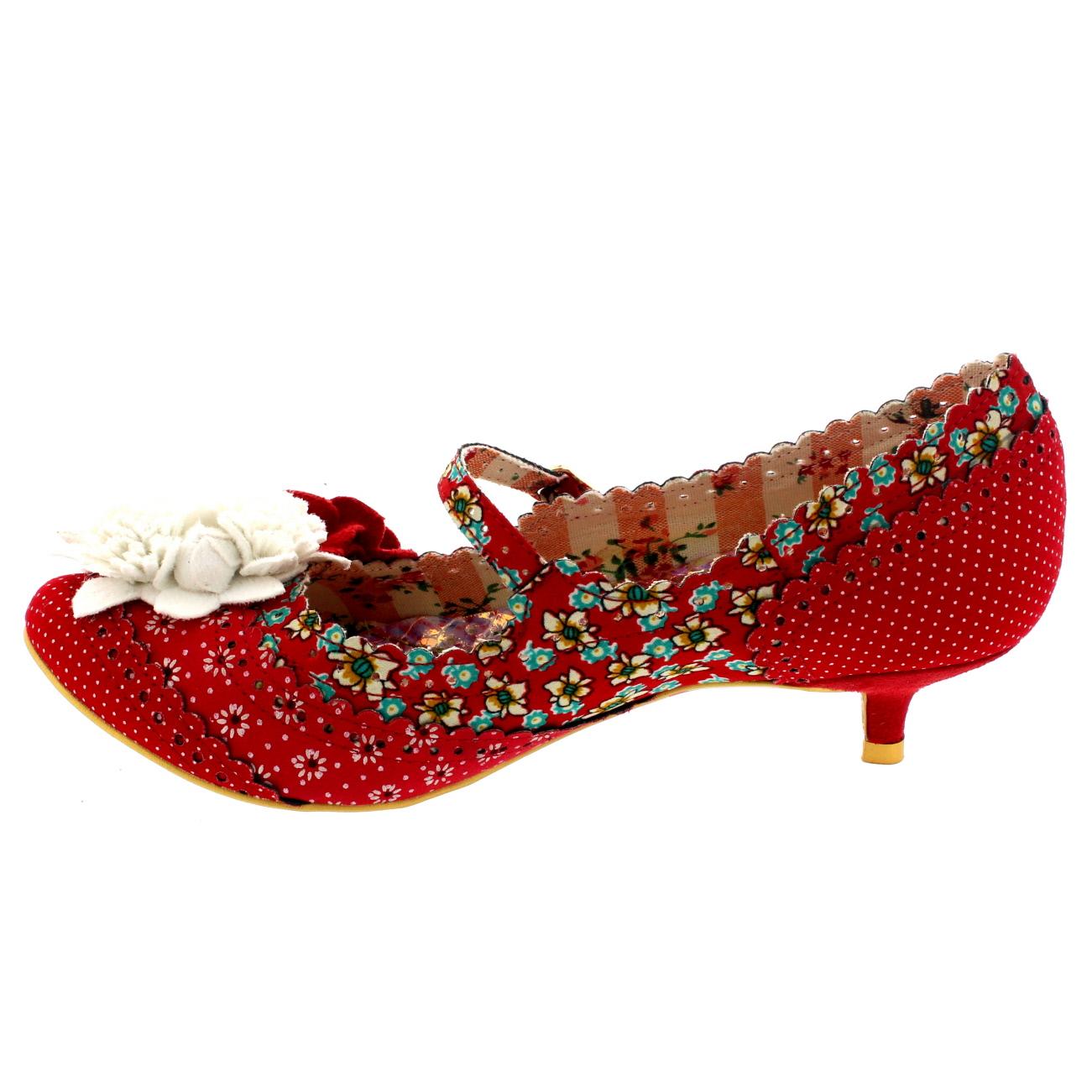 Red Shoes Kitten Heel