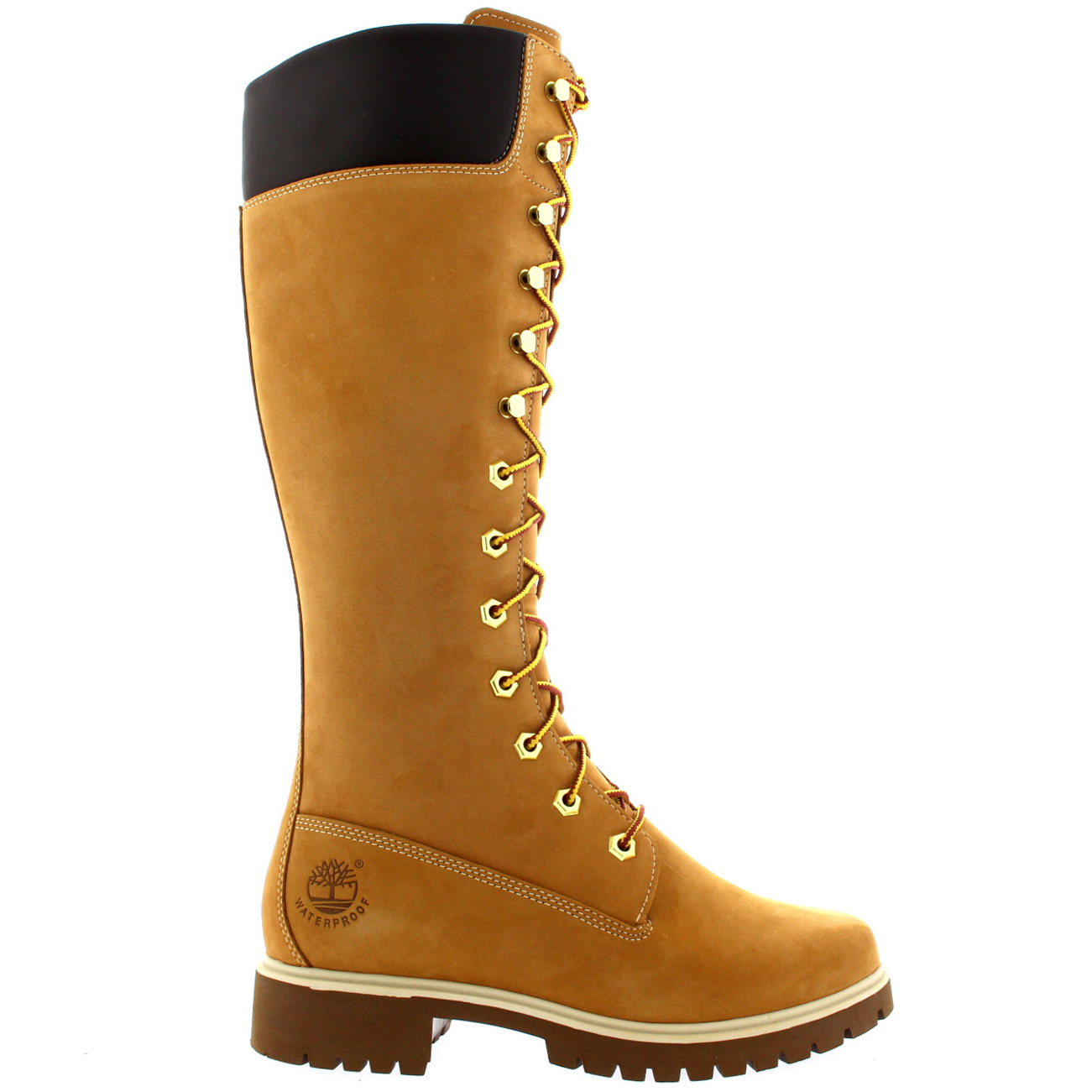 Cool Details About WOMENS LADIES TIMBERLAND KNEE HIGH SNOW FUR WATERPROOF