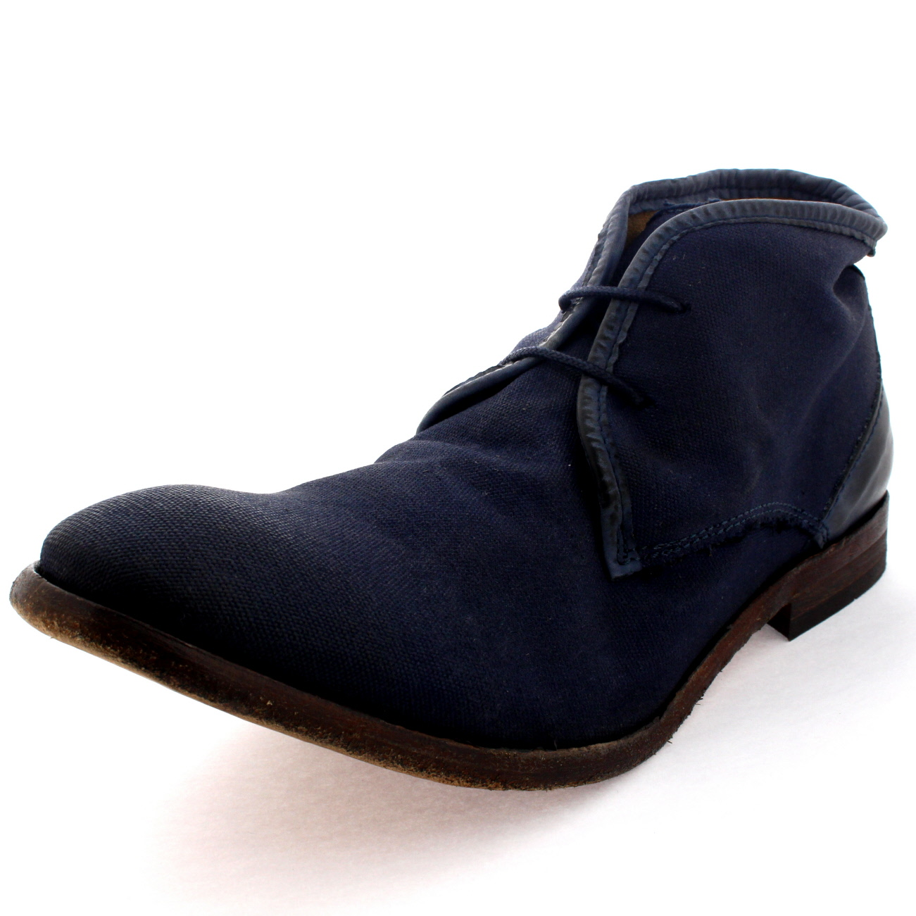 mens h by hudson cruise ankle boot canvas laced work