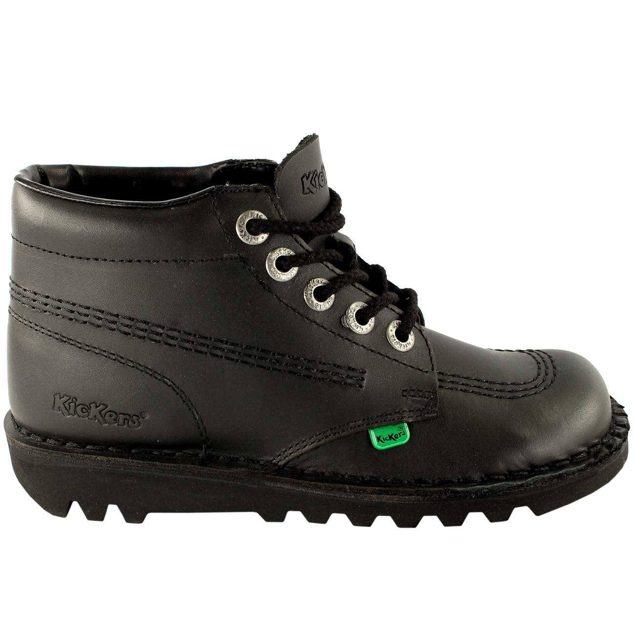 Black kicker sandals - Mens Kickers Kick Hi Leather Classic Oxfords Office