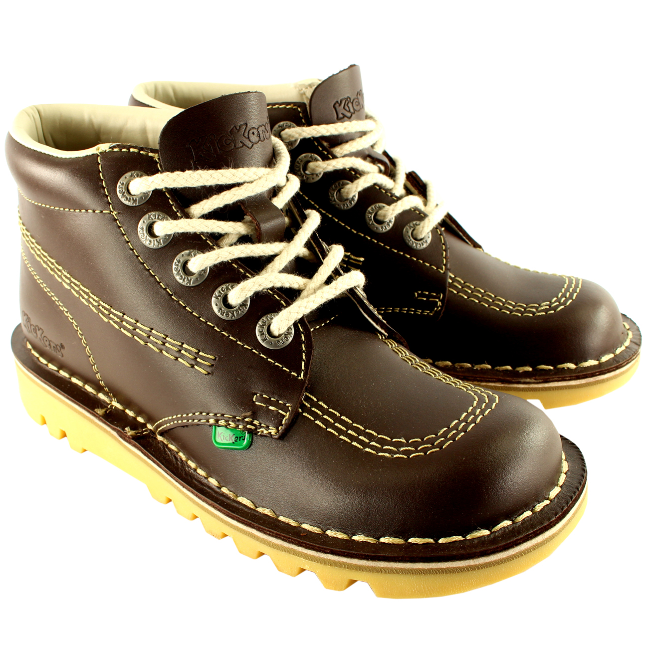 Womens Kickers Kick Hi Classic Leather Office Work Ankle Boots Shoes US 5.5-11 | EBay