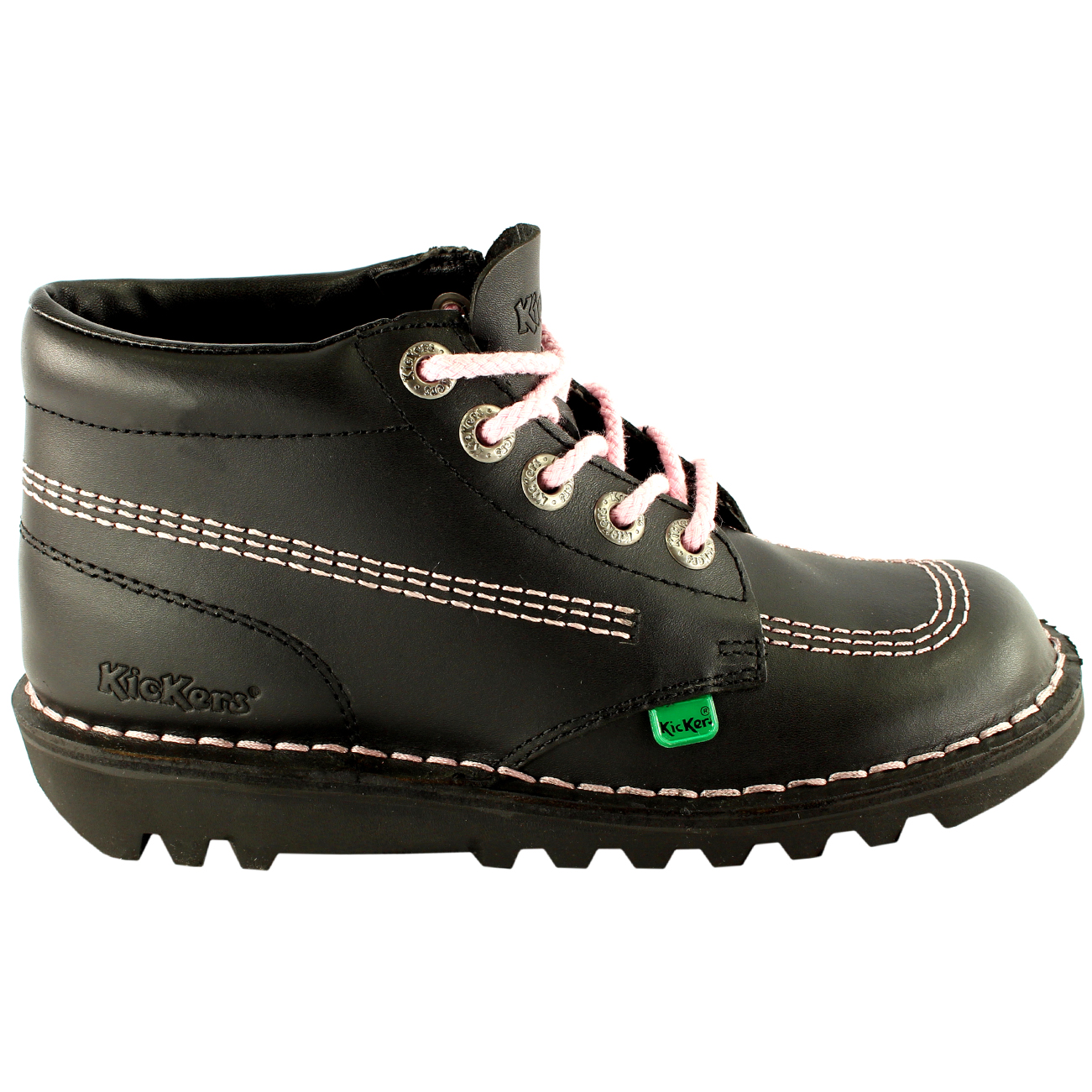 Unisex Kids Youth Kickers Kick Hi Back To School Leather Ankle Boot Shoes US 4-6 | EBay