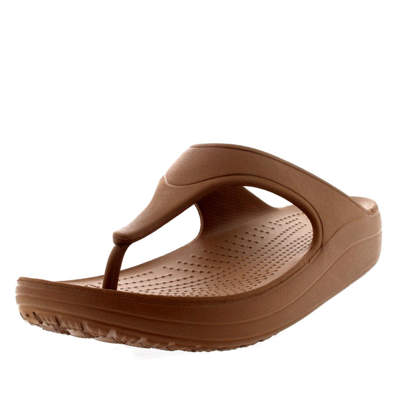 womens crocs sloane platform flip sandals beach. Black Bedroom Furniture Sets. Home Design Ideas