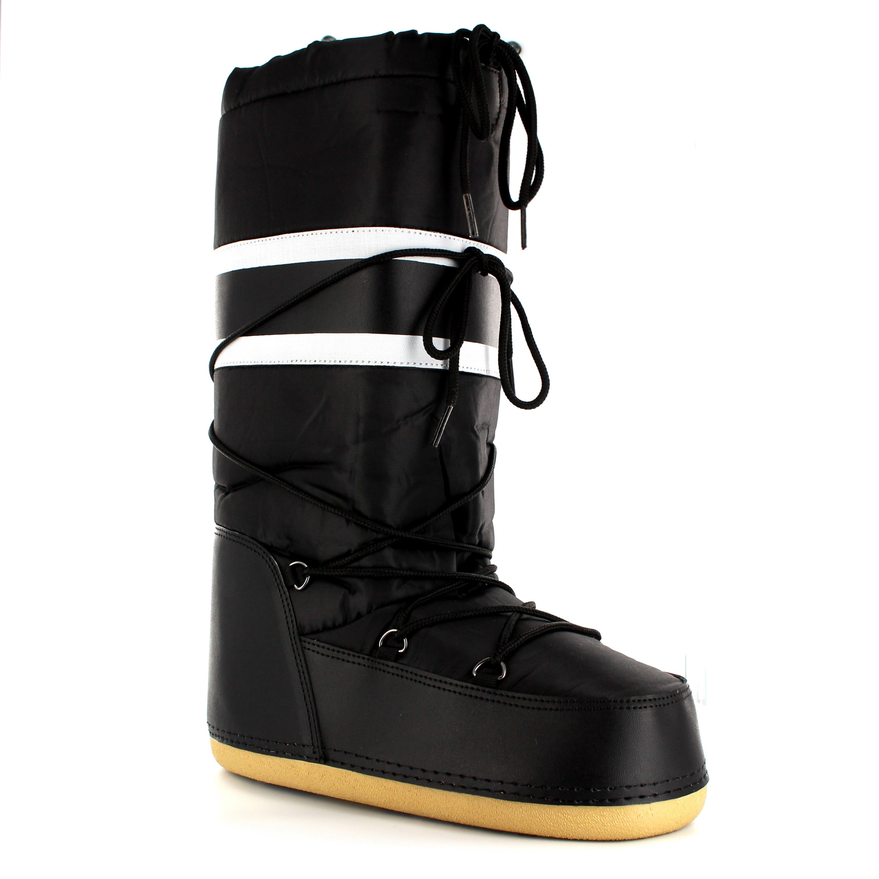 New Womens Snow Boot Nylon Tall Winter Fur Lined Snow Warm Quilted Rain
