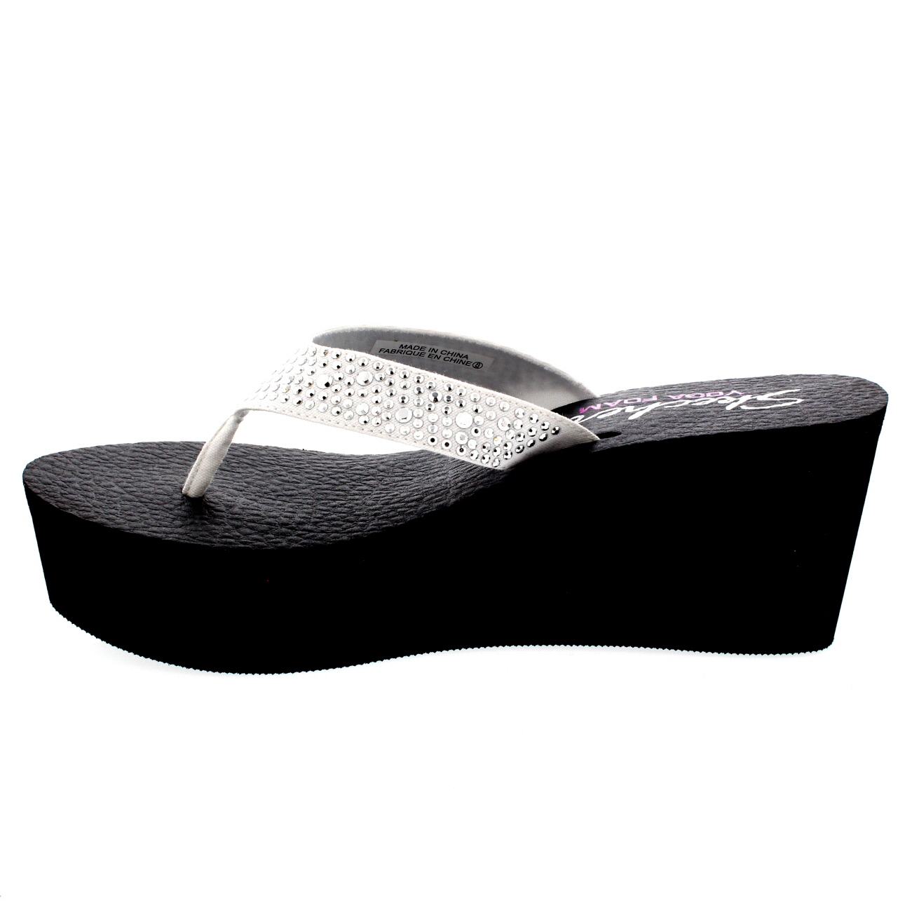 skechers black wedge sandals sale   OFF64% Discounted abee13120f