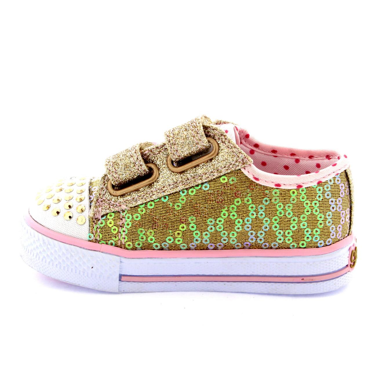 infant girls skechers sweet steps twinkle toes toddler. Black Bedroom Furniture Sets. Home Design Ideas