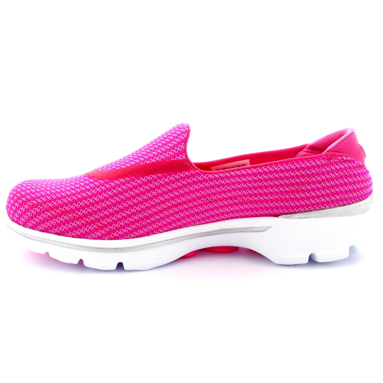 womens skechers go walk 3 hot pink walking slip on. Black Bedroom Furniture Sets. Home Design Ideas