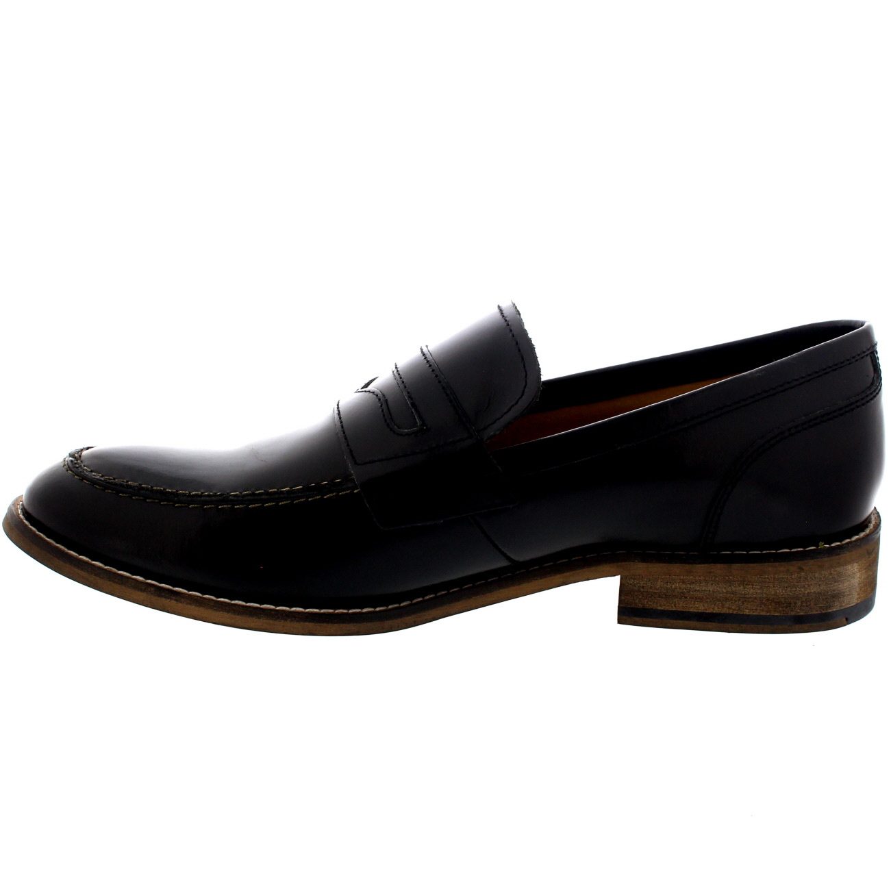 Mens Ikon Marner Slip On Smart Work Penny Loafers Leather ...