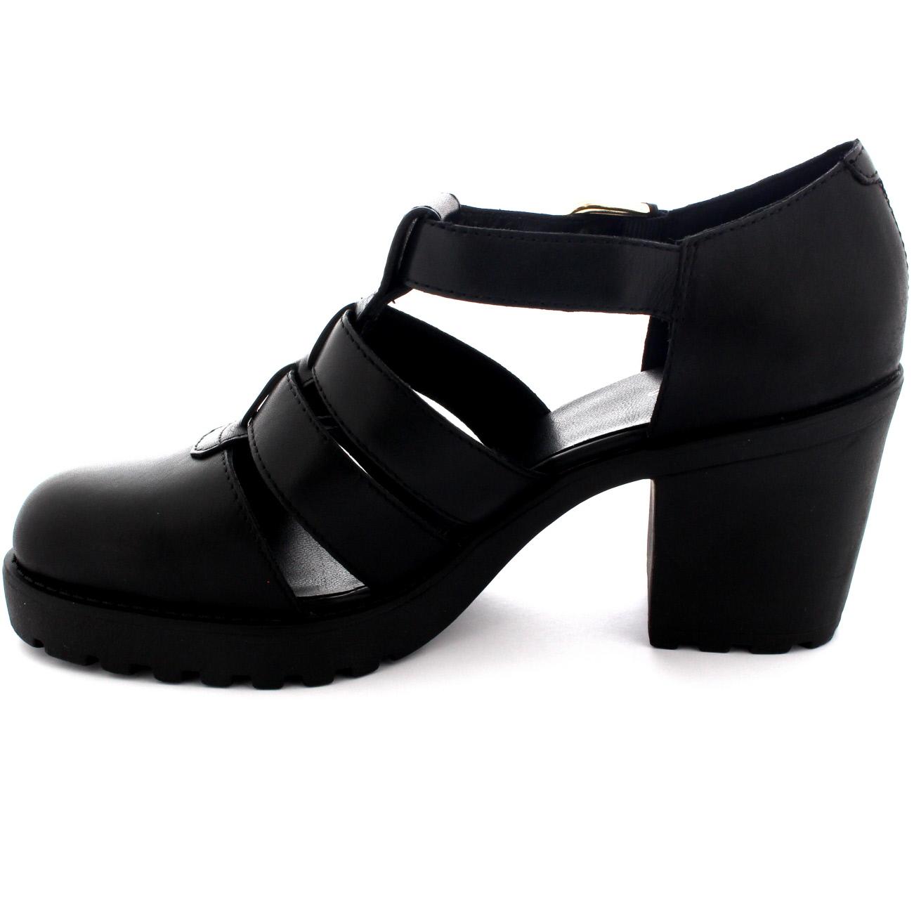 Black vagabond sandals - Womens Vagabond Grace Gladiator Festival Mid Heel Ankle
