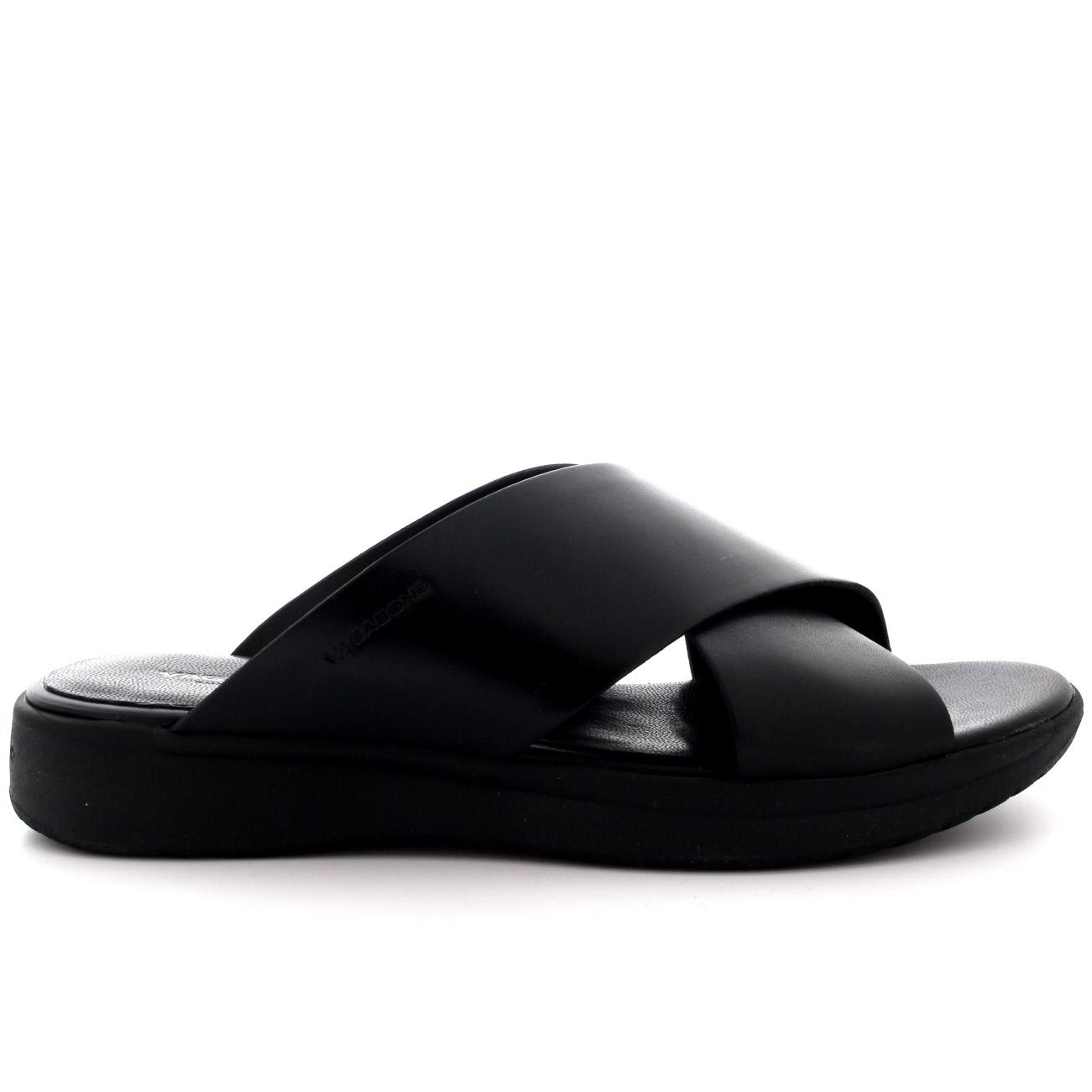Black vagabond sandals - Womens Vagabond Lola Casual Flat Black Fashion Open Toe Leather Sandal Us 5 5 10