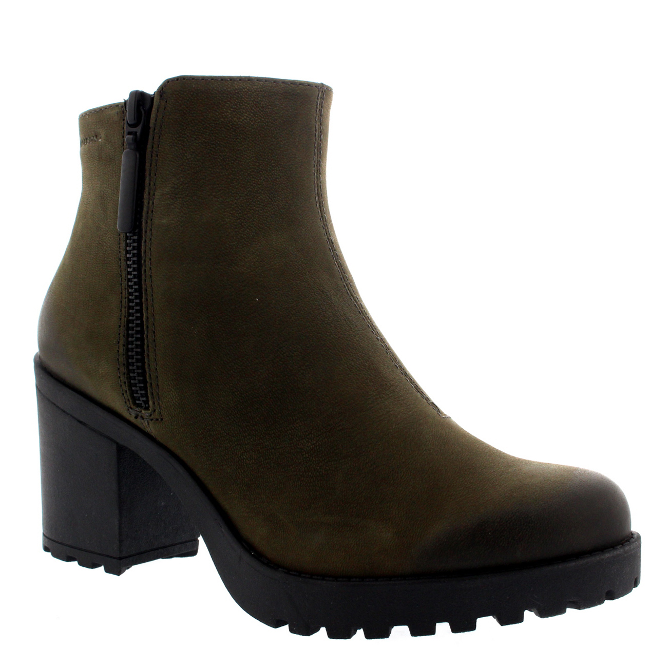 womens vagabond grace zip suede block heel festival casual ankle boots us 5 5 10 ebay. Black Bedroom Furniture Sets. Home Design Ideas