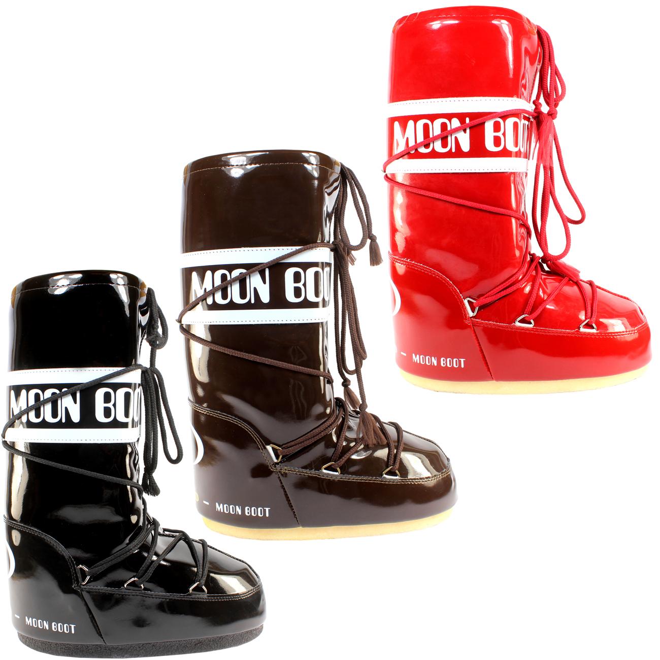 womens tecnica moon boot vinyl winter snow ski sking boots. Black Bedroom Furniture Sets. Home Design Ideas