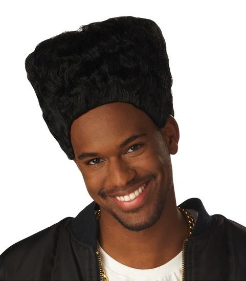 Hi Top Fade 80s Hip Hop Mc Hammer Rapper Men Costume Wig