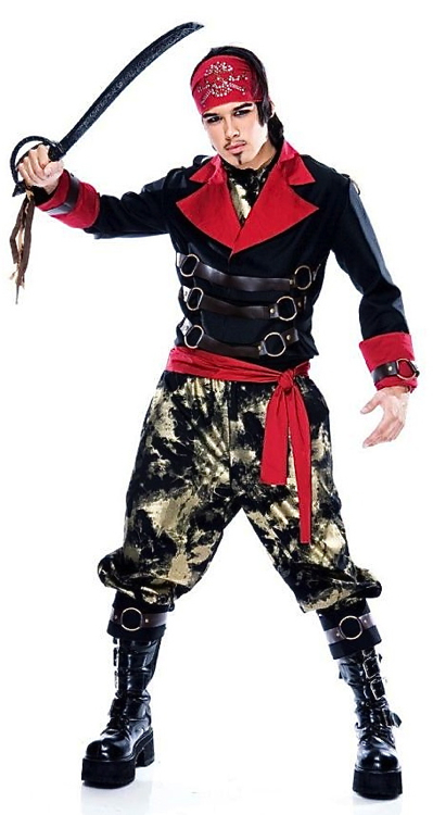 Apocalypse-Pirate-Steampunk-Punk-Dress-Up-Men-Costume-L