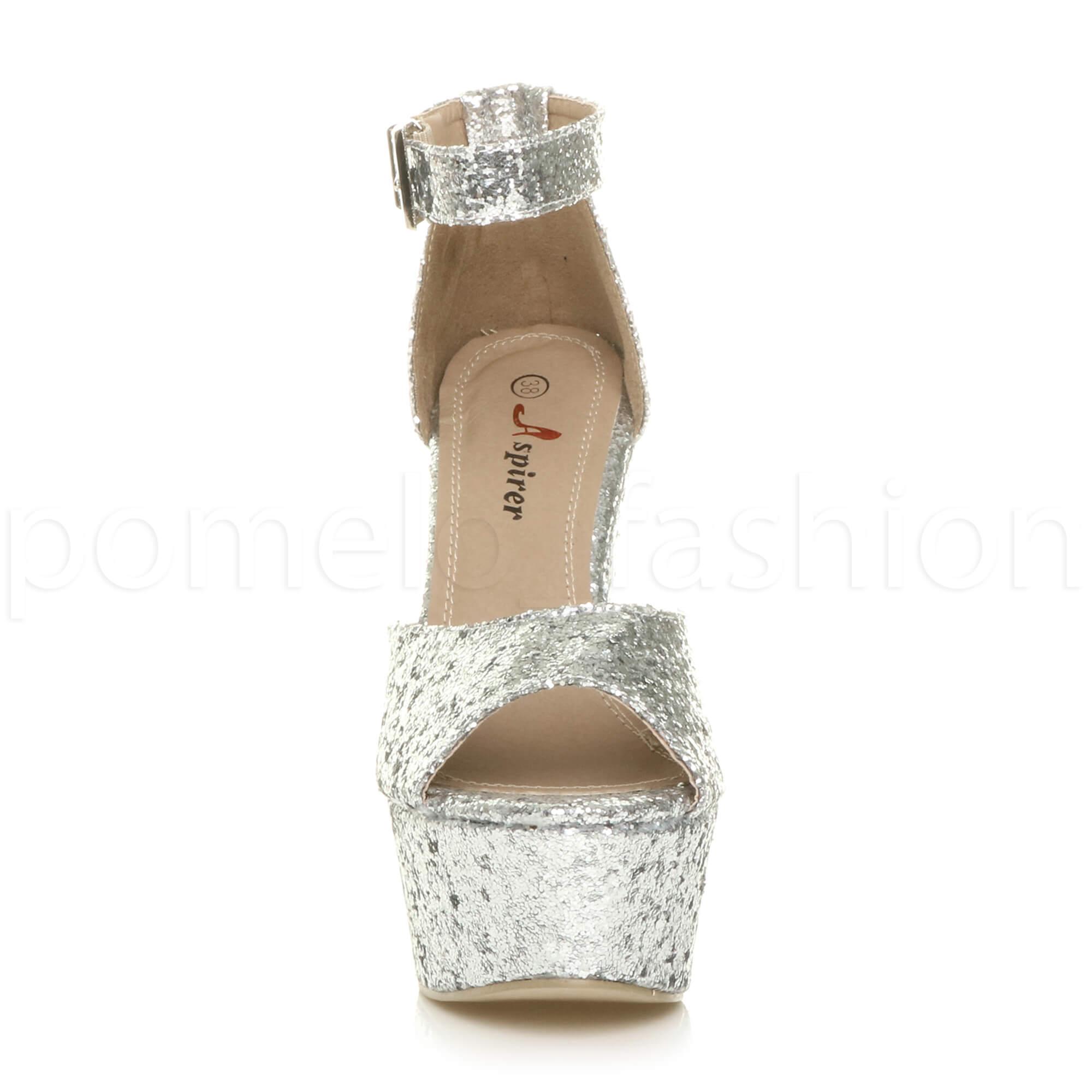 womens high chunky heel buckle peep toe shoes
