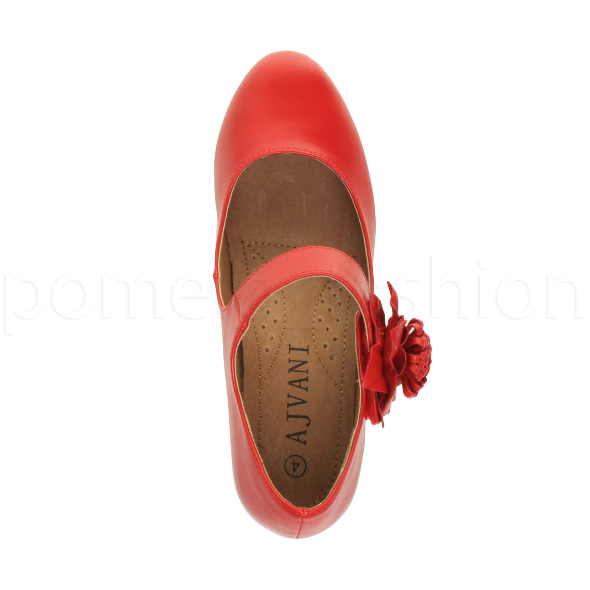 WOMENS LADIES COMFORT MID HEEL MARY JANE PADDED CUSHIONED 50s 60s COURT SHOES