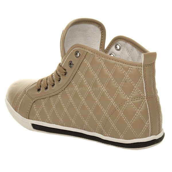 WOMENS-LADIES-FLAT-TRAINERS-QUILTED-HI-HIGH-TOP-PUMPS-ANKLE-BOOTS-SHOES-SIZE