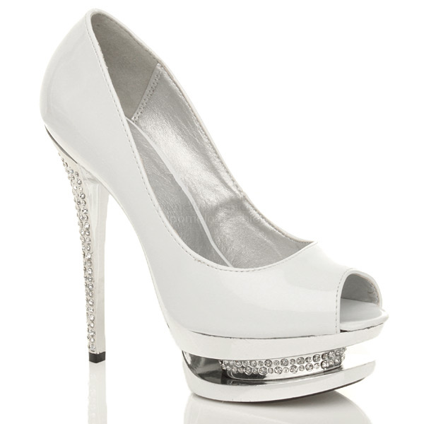 WOMENS-LADIES-HIGH-HEEL-PLATFORM-WEDDING-BRIDAL-PROM-PEEP-TOE-PARTY-SHOES-SIZE