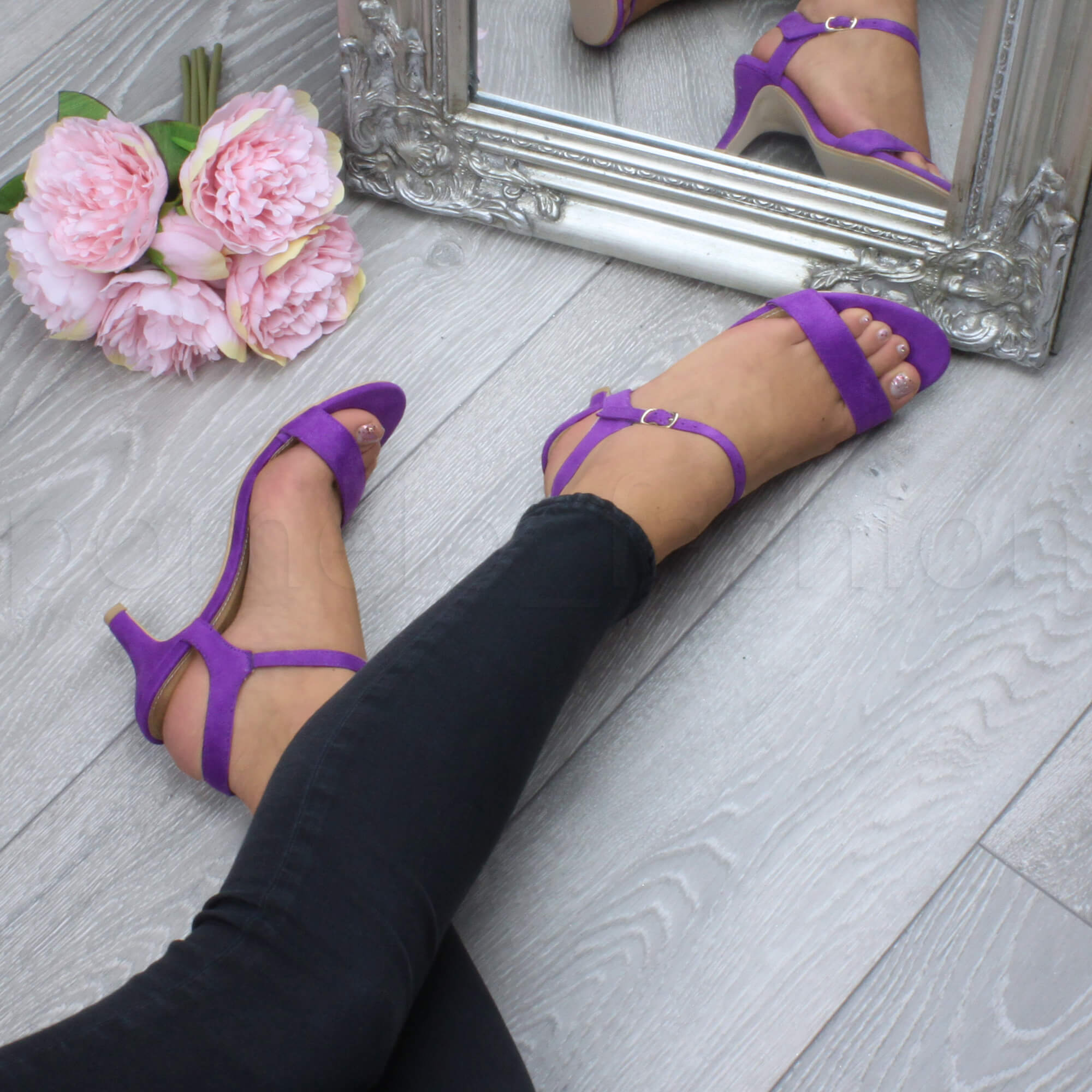 Ladies Purple Strappy Shoes