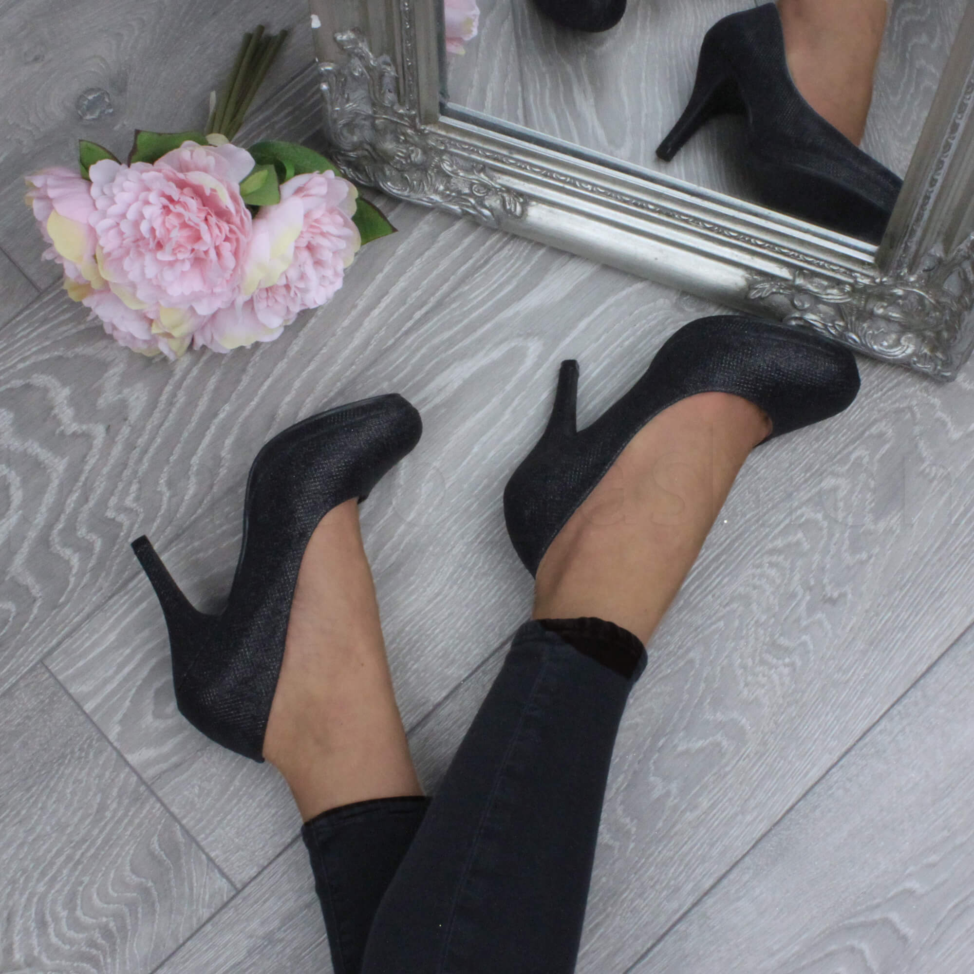 womens high heel platform smart evening