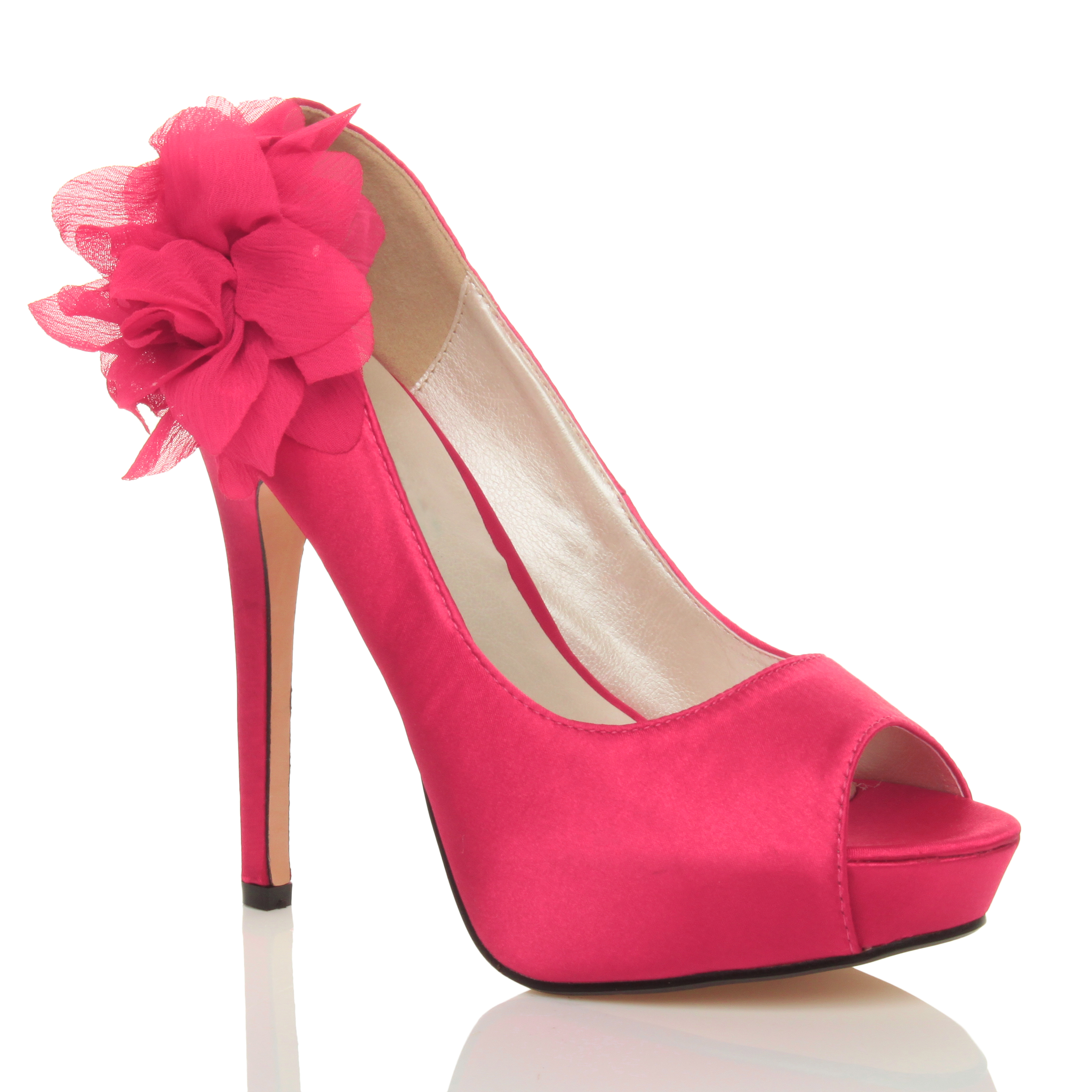 Pink High Heels With Flower Crazywidowfo