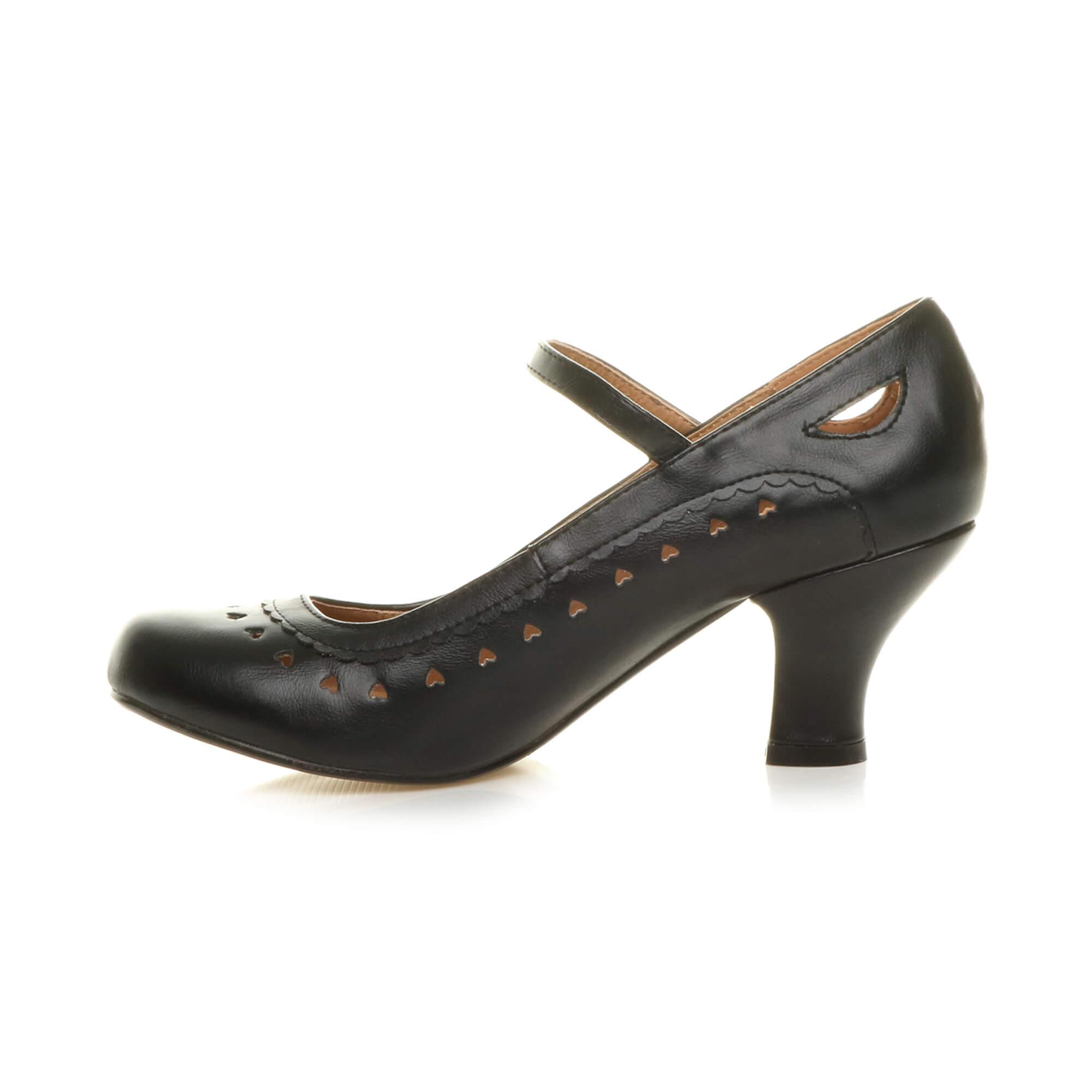 Bottes femme mi talon mary jane d couper c ur ann es 50 ann es 60 cour chaussures escarpins - Chaussures annees 50 femme ...